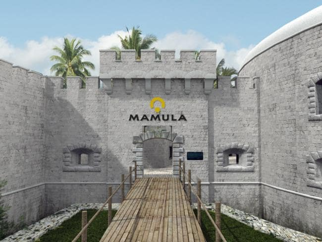 The dramatic entrance to Mamula Resort.