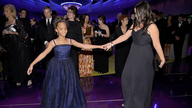 HOLLYWOOD, CA - FEBRUARY 24: Actress Quvenzhane Wallis (L) attends the Oscars Governors Ball at Hollywood & Highland Center on February 24, 2013 in Hollywood, California. (Photo by Kevork Djansezian/Getty Images)