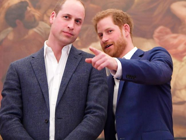 Prince William, Duke of Cambridge and Prince Harry attend the opening of the Greenhouse Sports Centre in London. Picture: Getty