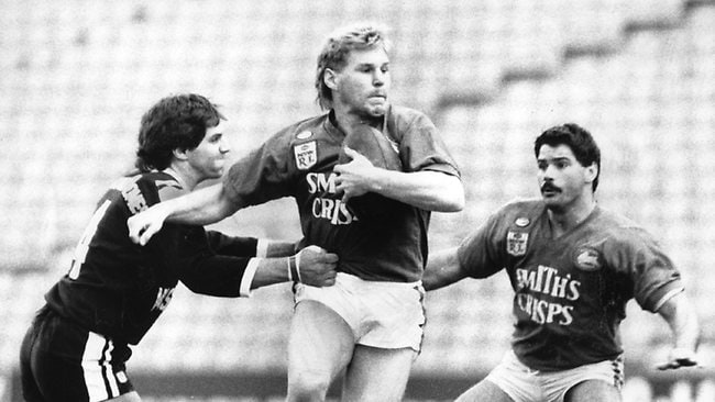 Bronko Djura during Wests v Souths first-grade game in Sydney. Picture: Archive News Ltd