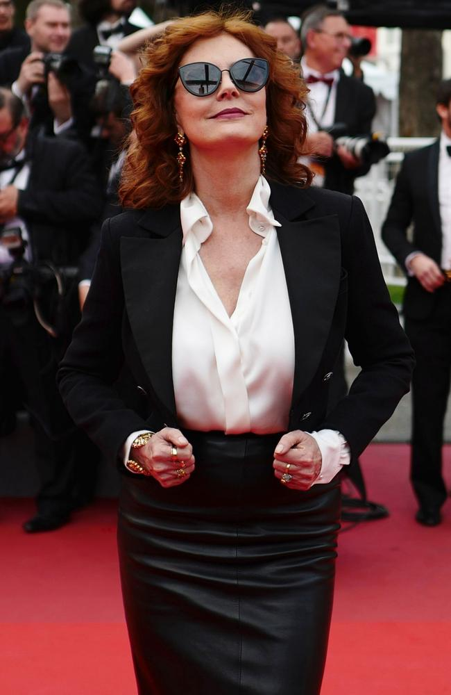 Susan Sarandon arrives at Cannes Film Festival on Thursday. Picture: Valery Hache