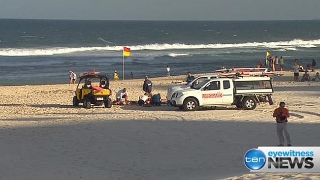 The scene on the incident on Monday. Picture: Channel 10