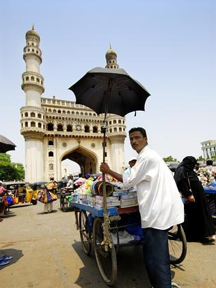 The market near Charminar, Hyderabad.