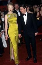 Nicole Kidman caused a stir in this gold eastern-themed John Galliano gown. Picture: Kevin Mazur Archive/WireImage