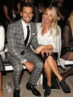 Tim Robards and girlfriend Anna Heinrich attend the Mercedes-Benz Presents Ellery show at Mercedes-Benz Fashion Week Australia 2015 at Carriageworks on April 12, 2015 in Sydney, Australia. Picture: Getty