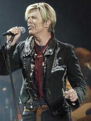 2003 ... David Bowie launching his worldwide 'A Reality Tour'. Picture: AP