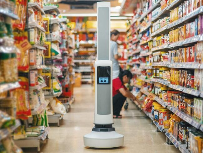 Tally checks aisles for out-of-stock items. Picture: Simbe Robotics