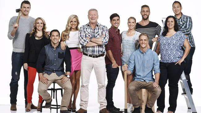 The Cast ... Hosts Scott Cam And Shelley Craft with  <i>The Block: Glasshouse</i> contestants.