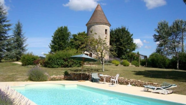 This Castle in the Dordogne costs $171 per night. Picture: NaturistBnB