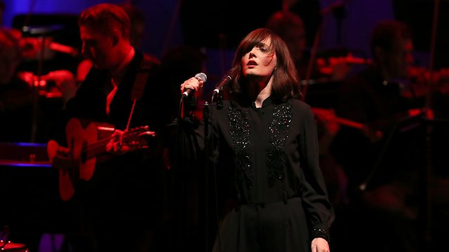 Sarah Blasko performs with the Adelaide Symphony Orchestra at the Adelaide Festival Centre February 11, 2013. Regi Varghese/The Australian Picture: Verghese Regi