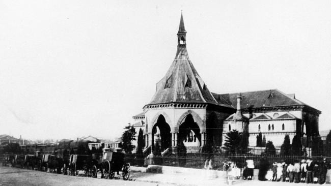 Mortuary station, just outside Central station in Sydney, in its funeral heyday.