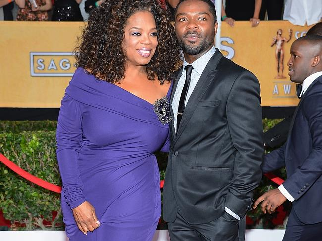 Celebrity fans of Spanx include Oprah Winfrey, pictured here at the weekend's SAG awards.