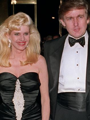 Donald Trump and his then wife Ivana in 1989. Picture: AFP