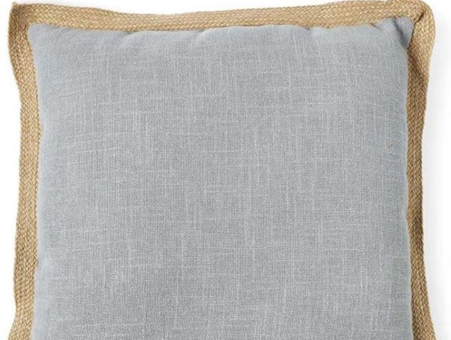 The Big W jute pillow sells for just $10.