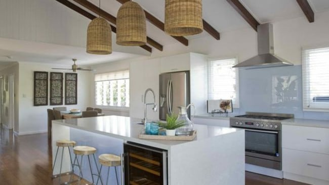 Maddi and Lloyd's new kitchen in their Townsville home.