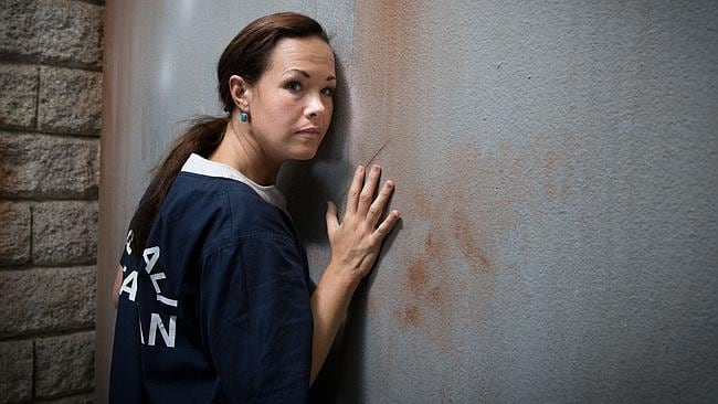 Controversial character ... Krew Boylan as convicted drug smuggler Schapelle Corby in the Channel 9 telemovie Schapelle. Picture: Supplied