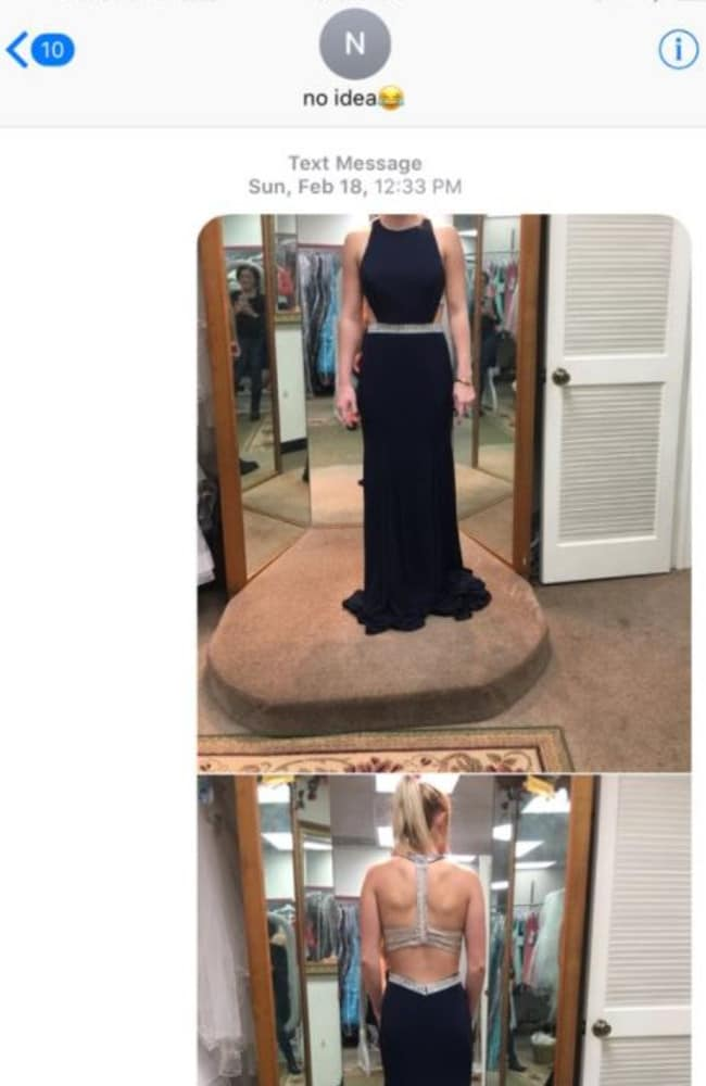 The photos that were sent to the wrong number. Picture: Twitter