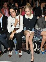 Thomas Cohen and Peaches Geldof attend the Charlotte Ronson Spring 2012 fashion show at New York Fashion Week. Picture: Getty