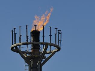 A gas flare burning at the Moomba gas plant, Cooper Basin.