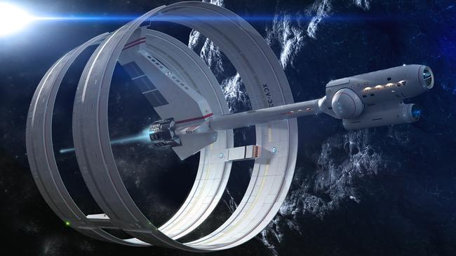 "Evolution of a dream ... An earlier version of the concept ""warp drive"" interstellar ship."