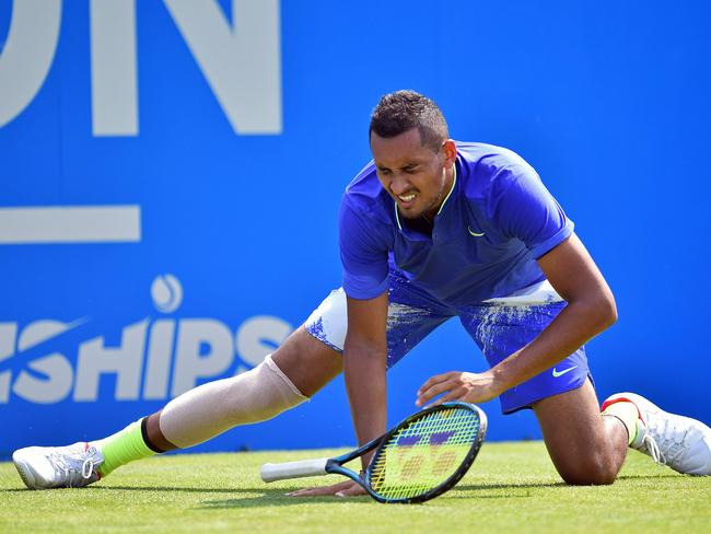Nick Kyrgios suffered a fresh injury blow ahead of Wimbledon.