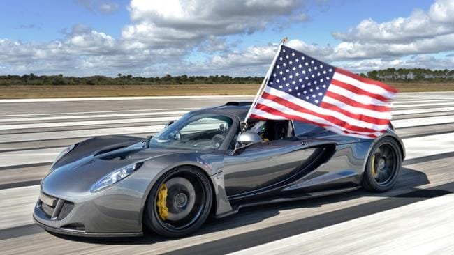 The American made car is the fastest production car in the world.
