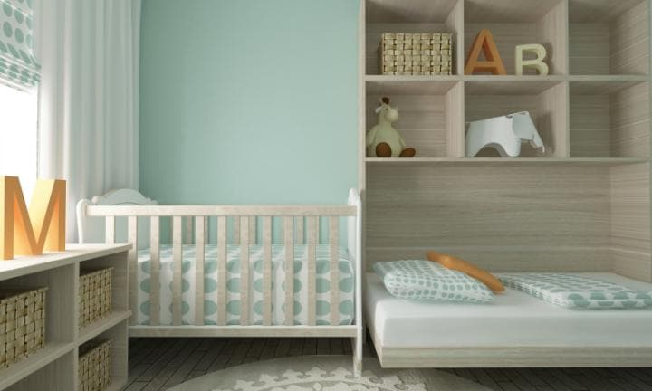 Safe baby nursery furniture cot and mattress