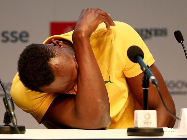 Usain Bolt could not have expected the questioning he received in Glasgow.