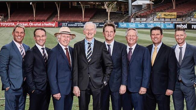 Channel 9's ashes commentary team.