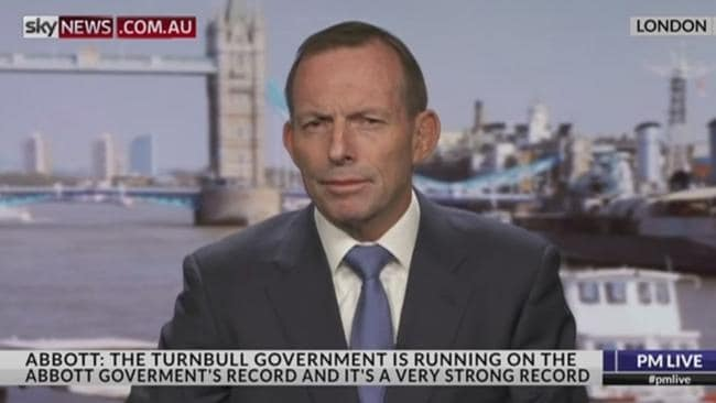 Senior government figures say Tony Abbott's comments on Sky News last night smack of jealousy.