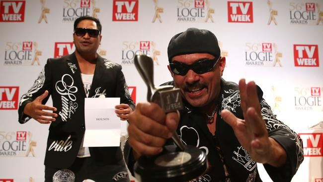 Paul Fenech poses in the awards room after winning a Logie for Outstanding Light Entertainment Program at the 2014 Logie Awards at Crown Palladium on April 27, 2014 in Melbourne, Australia. (Photo by Scott Barbour/Getty Images)