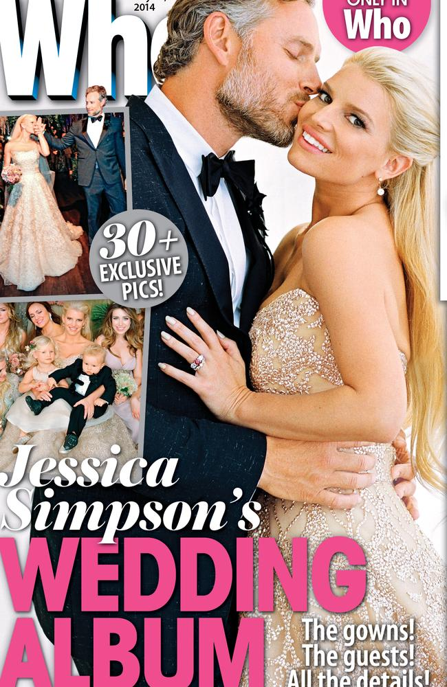 Jessica Simpson on the cover of WHO magazine.