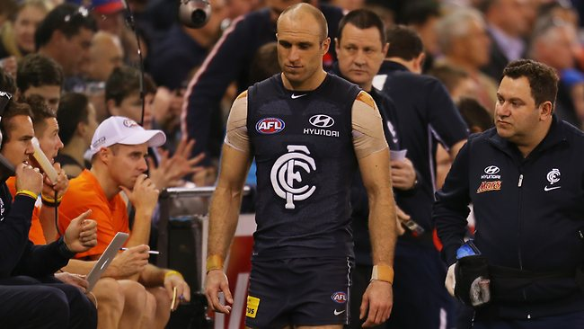 Gone ... Chris Judd will miss the rest of the season.