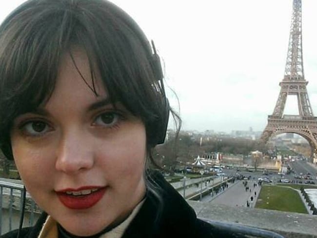 Injured ... Hobart woman Emma Grace Parkinson was injured in the Paris attacks. Picture: Facebook