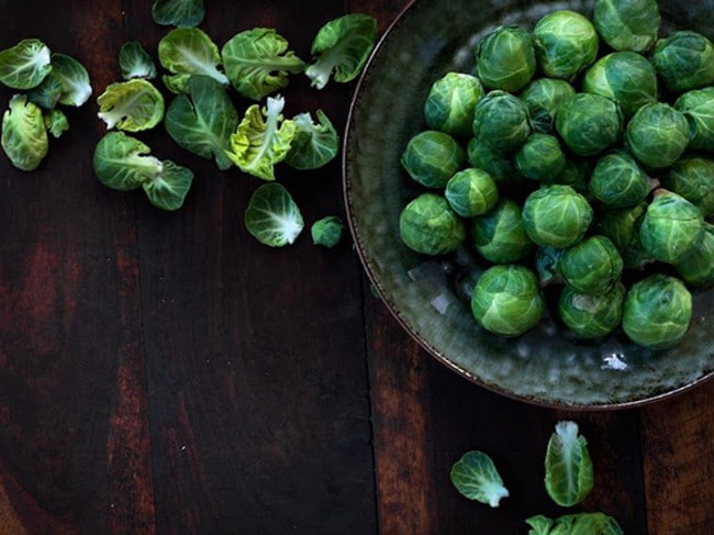 Brussels sprouts are super healthy, but eat them roasted or steamed, not raw.