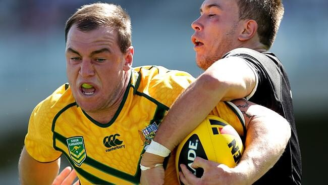 Jack Ahearn for the Junior Kangaroos. Picture: Gregg Porteous