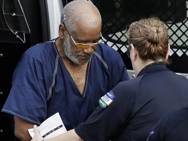 James Mathew Bradley Jr, left, arrives at the federal courthouse for a hearing on Monday in San Antonio. Picture: Eric Gay/AP