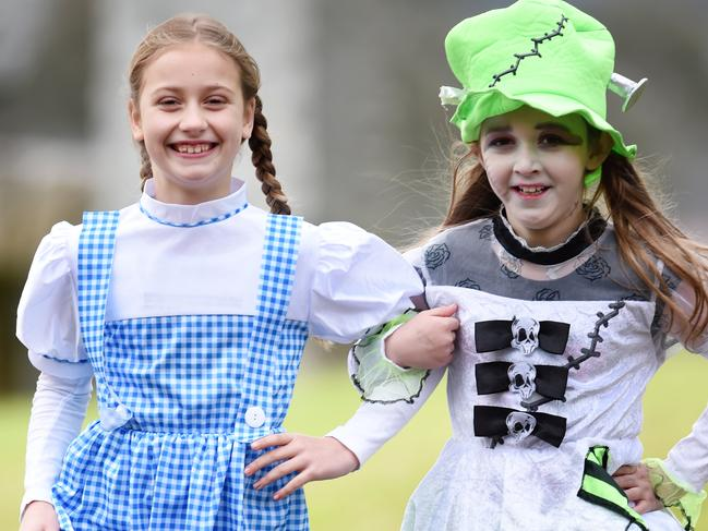 The Lilydale Community Library held a book week parade involving local school students. Coldstream Primary School students Sarah dressed as Dorothy from the Wizard of Oz and Lily as Frankie, friendly monster. Lilydale Community Library is co-located with the Box Hill Tafe Lakeside Campus.