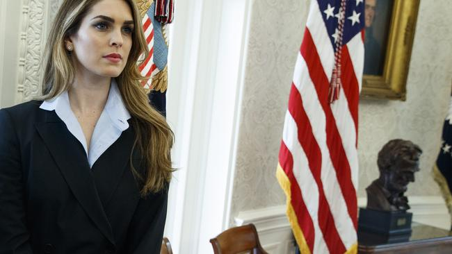 White House communications director Hope Hicks is Mr Porter's current girlfriend. Picture: AP