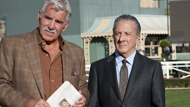 Dennis Farina and Dustin Hoffman star in Luck. Picture: Supplied