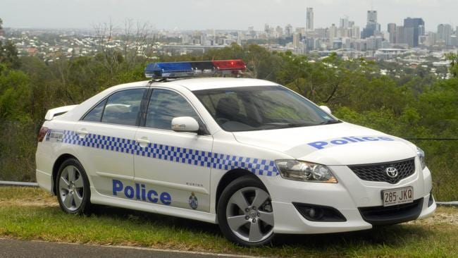 Sunshine state ... Queensland police use the Toyota Aurion V6 (older model pictured) for highway patrol even though it didn't pass pursuit brake tests in NSW. Picture: Supplied.
