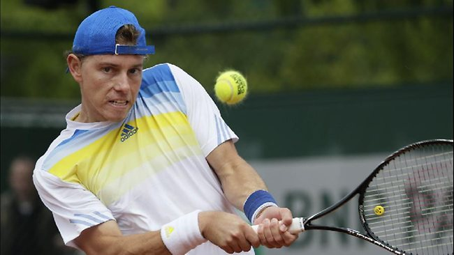 Australia's James Duckworth during his first round loss to Slovenia's Blaz Kavcic in the French Open.