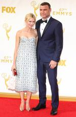 Naomi Watts and Liev Schreiber attend the 67th Annual Primetime Emmy Awards in Los Angeles. Picture: Getty