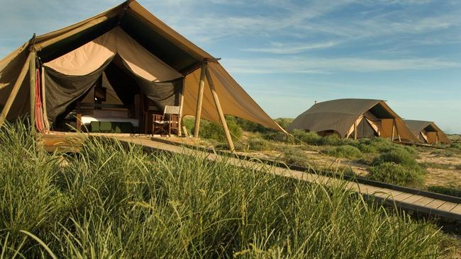 Best place to stay. Sal Salis near Ningaloo Reef in Western Australia Picture: Supplied