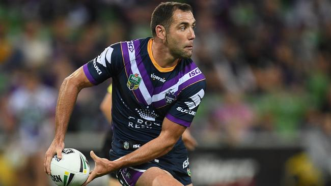 Cameron Smith's decision to quit representative footy has boosted the Storm's odds of winning the NRL title. Picture: AAP Image/Julian Smith