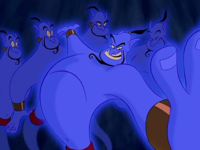 Robin Williams was hilarious as the genie in Aladdin.