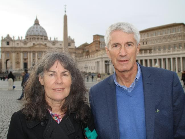 Chrissie and Anthony Foster, the parents of two female victims of the clergy, are in Rome. Picture: Charles Miranda