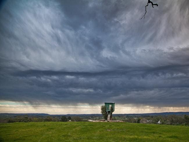 Patrick Wynne sent in this pic of the storm heading over Adelaide, as seen from Echunga.