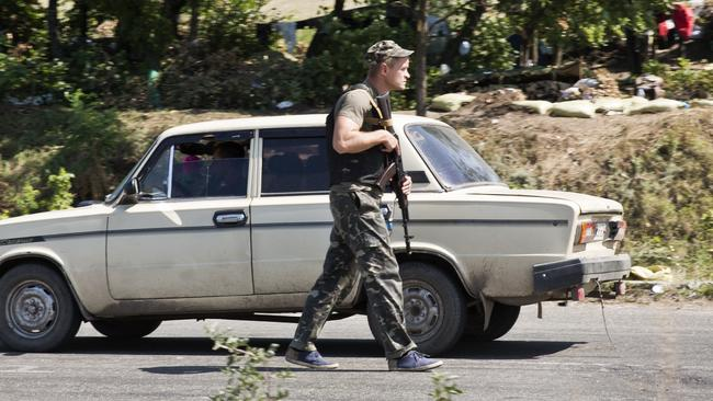 On the move ... the Ukrainian army is closing in on Donetsk. Picture: Ella Pellegrini