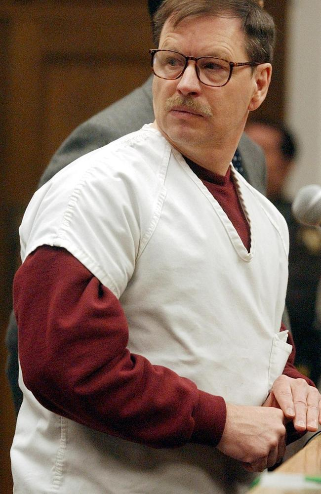 Green River Killer Gary Ridgway was convicted of killing 48 women, many prostitutes, but may have murdered 90. Picture: Elaine Thompson/AFP